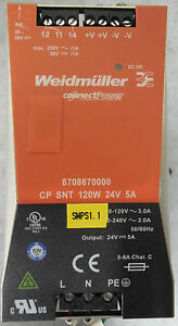 Weidmuller Connectpower 8708670000 Cp Snt 120w 24v 5a Power Supply 115 230v