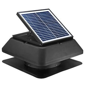 Solar Attic Fan 20w 1750 Cfm Adjustable Solar Panel Rust Free Roof Mounted
