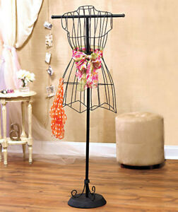 Vintage Boutique Style Wire Dress Form Mannequin Holder Display Stand Room Decor