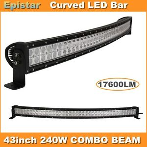 Curved 42 240w Led Light Bar Combo Offroad Truck Car Boat Suv Atv 12v 4wd 43