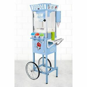 Nostalgia Electrics Old Fashioned Snowcone 53 W cart New Shaved Ice Machine