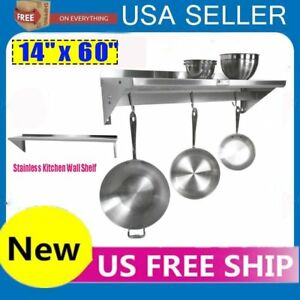 14 X 60 Commercial Stainless Steel Heavy Duty Kitchen Shelving Wall Shelfs Dr