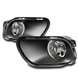 Bumper Chrome Driving Fog Lights Lamp W Bezel Switch For 2014 2017 Jeep Cherokee