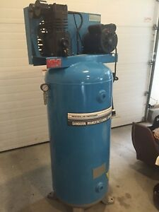 Sanborn Air Compressor Cast Iron Pump 5hp 60 Gallon