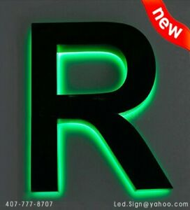 Led Back Lit 3d Slim Letter 22 Custom Made Sign Letters