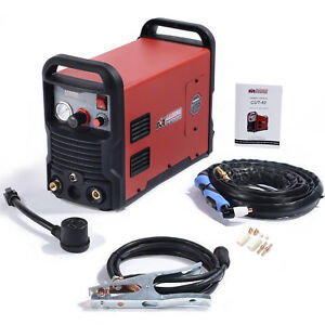 40 Amp Air Plasma Cutter Dc Inverter 110 230v Dual Voltage Cutting Machine New