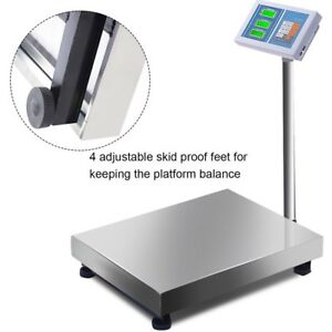 660lbs Led Ac dc Digital Floor Platform Scale Postal Shipping Mailing Electronic