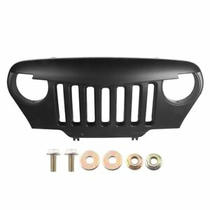 Front Matte Black Angry Bird Grille Grill Jeep Wrangler Tj 97 06 Accessories New
