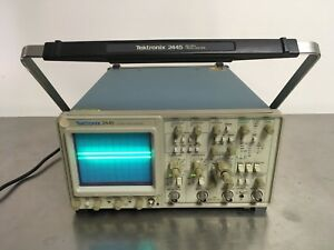 Tektronix 2445 Analog Oscilloscope 4 Channel 150mhz Used Tested
