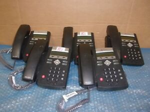 Lot Of 5 Polycom Soundpoint Ip 335 Telephones With Handset no Base