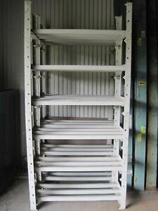 Grey Beige 6 Shelf Industrial Equipment And Backup Battery Shelving Rack