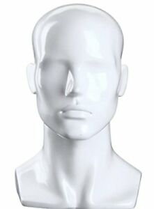 Only Hangers Male Gloss White Mannequin Head