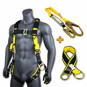 Kwiksafety Supercell Kit 3d Safety Harness 6 Lanyard Tool Lanyard 3 Anchor