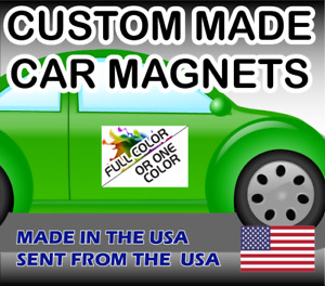 Qty Two 2 Custom Made Car Magnet Magnetic Auto Truck Signs One Or Full Color