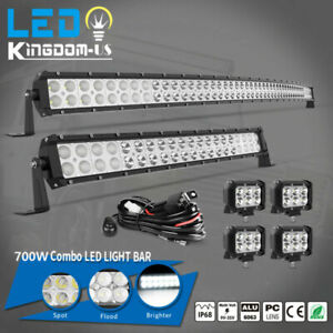 52inch 700w Led Light Bar Combo 22inch 4 18w For Jeep Wrangler Jk Yj Tj Cj Lj
