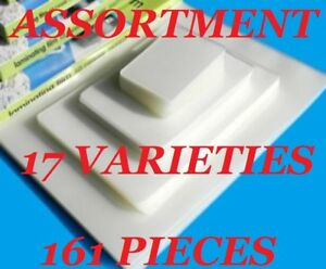 Assortment Pack Laminating Pouches Laminator Sheets 17 Varieties 161 Pcs