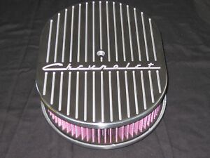 New Chevrolet Ball Mill Design 12 Oval Air Cleaner K N Washable Red Filter