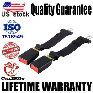 2x Universal 14 Car Seat Seatbelt Safety Extender Belt Extension 7 8 Buckle Us
