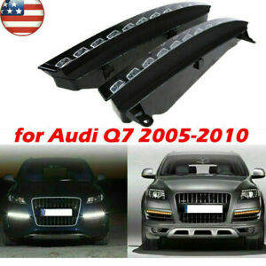 For Audi Q7 05 10 2 X New Updated Led Drl Driving Light Turn Signal Replacement