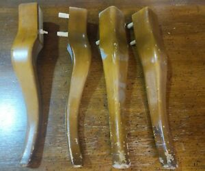 Set Of 4 13 Antique Wood French Provencial Table Chair Legs