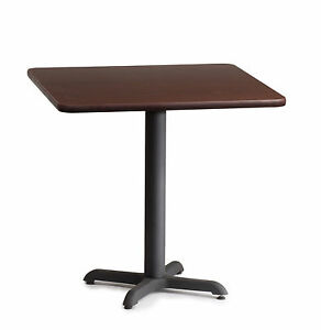 Restaurant Table Laminated Wood 42 X 42 Pub Table Commercial Cast Iron Base