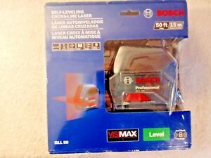 Bosch Self leveling Cross line Laser Model Gll50 Nib