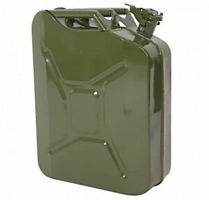 5 Gallon Metal Gas Can Military Grade Emergency Fuel Tank Storage W Spout New