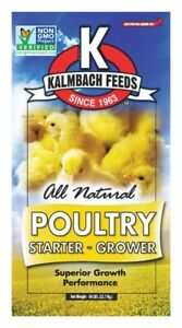 Kalmbach Feeds Grower starter Feed Crumble For Chickens 50 Lb