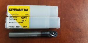 6 flute Ball Nose Hp Solid Carbide End Mill Kennametal 5606547 retail 108 00