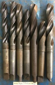 7 Morse Taper 3 Mt Drill Bit Lot Metal Lathe Southbend Atlas Jet Clausing Logan