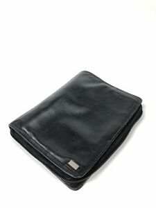 Franklin Covey Napa Leather Planner Binder Classic Black Supple Buttery Soft