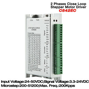 2 Phases Close loop Stepper Driver 1 4 5 6a 24 50vdc For Nema17 23 Motor C542ec