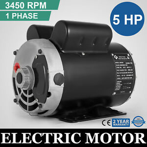 Electric Motor 5 Hp Spl 3450 Rpm Compressor 1 Ph 5 8shaft Waterproof Cm05256 Ccw