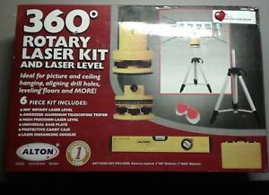 Alton Professional Multi beam Rotary Laser Level Kit With Case 132300