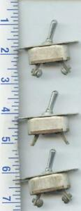 3 Vintage Cutler hammer B 5a Luminous Tip On off Aircraft Toggle Switch Lot
