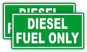 2 Diesel Fuel Only Vinyl Decals Stickers Gas Can Labels Transfer Tank Usa