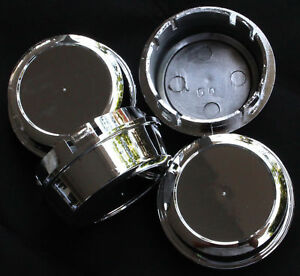 New 4x Center Caps Cup 60 Mm Wheel Hub Cover Chrome Finished Free Enkei Sticker