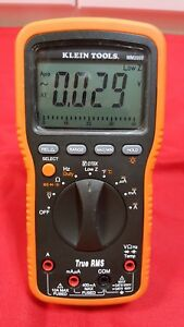 Klein Tools Mm 2000 True Rms Electrician Hvac Multimeter No Leads Made In Korea