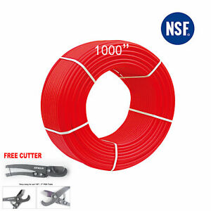 1 2 X1000ft Pex Pipe tubing Oxygen Barrier Evoh Red 1 000ft Heating cutter