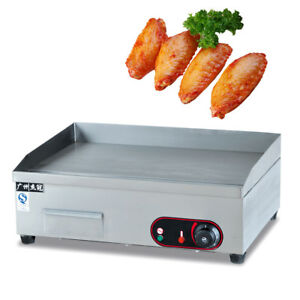 3000w Electric Countertop Griddle Flat Top Restaurant Commercial Grill Bbq