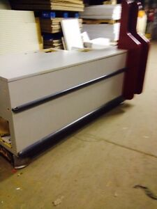 Used Checkout Counters Gray Store Cashwrap Fixtures Customer Service Straight