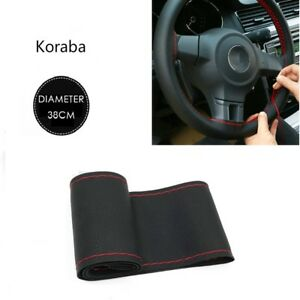 Hot Steering Wheel Cover Soft Leather Black And Red Car Accessories Pimp Useful