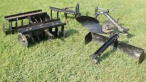 Brinly Sleeve Hitch Turning Plow Disc Grader Cultivator Implement Set Brinley