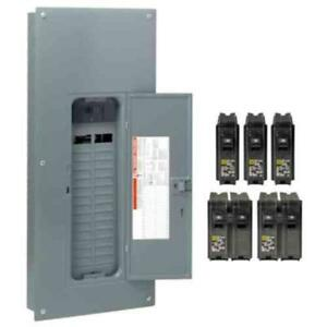 Square D Homeline 200 amp 80 circuit 40 space Main Breaker Electrical Panel New