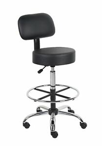 New Work Shop Stool Bench Mechanics Chair Swivel Garage Adjustable Height Seat