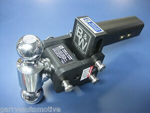 B w Black Tow Stow Dual ball Hitch Receiver 2 2 5 16 Ts20037b Adjustable 2 5
