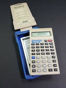 Calculated Industries Construction Master Iv Builder Calculator W armadillo Case