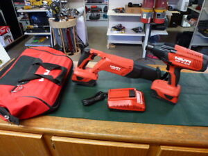Hilti 2 Tool Set W 2 Batteries And Charger