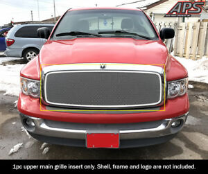 Fits 2002 2005 Dodge Ram 1500 2500 3500 Stainless Steel Chrome Mesh Grille