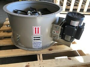 34 Dia Tube Axial Exhaust Fan For Paint Spray Booth three Phase 230 460 Volt